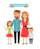 Happy family. Parents and kids Royalty Free Stock Photo