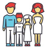 Happy family, parents with kids, father, mother, son, daughter concept. Stock Images