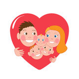 Happy family Stock Images