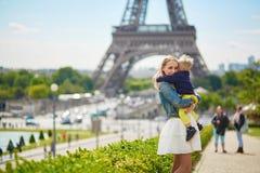 Happy family in Paris Stock Photography