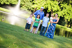 Happy Family at the Park Royalty Free Stock Image