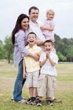 Happy family in the park Royalty Free Stock Photography