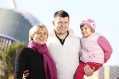 Happy family in the park Royalty Free Stock Photo