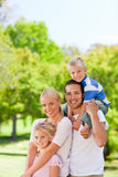 Happy family in the park Stock Photography