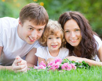 Happy family in park Royalty Free Stock Photography