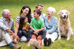 Happy family in a park Stock Images