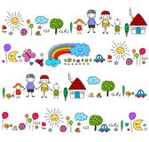 Happy family pattern Stock Photo