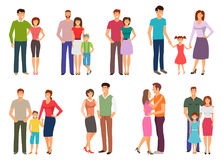 Happy family. People Figures, Parenting, Parents, Children, Kids, Son, Daughter. Happy family. People Figures, Parenting, Parents, Children Kids Son Daughter Royalty Free Stock Photos