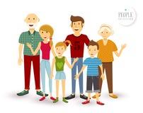 Happy family people flat illustration Royalty Free Stock Photos