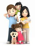 Happy family and pet Royalty Free Stock Image