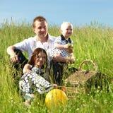 Happy family picnic Stock Image