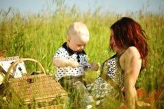 Happy family picnic Royalty Free Stock Photo