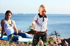 Happy family picnic Royalty Free Stock Photography