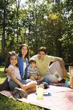 Happy family picnic. Royalty Free Stock Photo