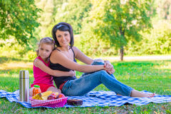 Happy family on a picnic Royalty Free Stock Photo