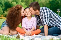 Happy family on a picnic Royalty Free Stock Photography