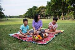 Happy family picnic Stock Photo