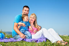 Happy family on picnic in park Royalty Free Stock Images