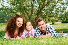 Happy family on a picnic Royalty Free Stock Images