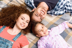 Happy family on a picnic Royalty Free Stock Image