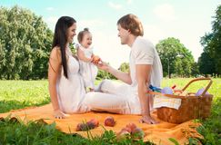 Happy Family picnicking in the park Stock Photography