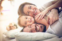 Portrait of happy family. royalty free stock photography