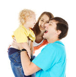 Happy family playing with child Royalty Free Stock Images