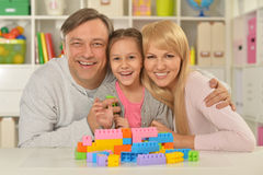 Happy family playing at home Royalty Free Stock Image