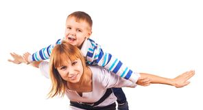 Happy family are playing together Stock Images