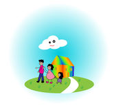 Happy family. Playing together. vector illustration stock illustration
