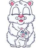 Happy family of polar bears Stock Images