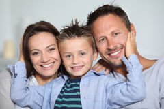 Happy family portrait Stock Images