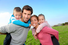 Happy family portrait Royalty Free Stock Image