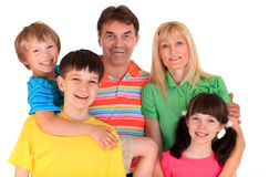 Happy family portrait Royalty Free Stock Images