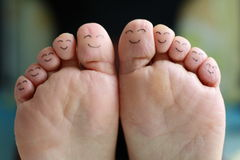 Happy family portrait of finger smileys Stock Photography