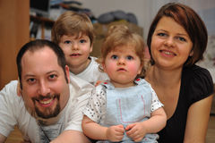 Happy family portrait at home Royalty Free Stock Photo