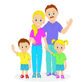 Happy family portrait. Royalty Free Stock Photography