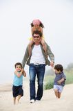 Happy family portrait outdoors Royalty Free Stock Image