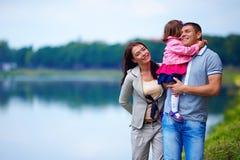 Happy family portrait, outdoors Stock Photos
