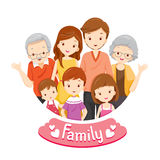 Happy Family Portrait. Relationship Togetherness Vacations Holiday Lifestyle Stock Photography