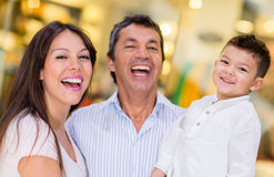 Family at a shopping center Stock Photo