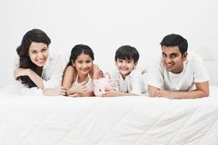 Happy family. Portrait of a happy family smiling Stock Images
