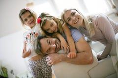 Happy family. Portrait of family. stock photography