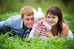 Happy Family Posing Royalty Free Stock Photo