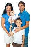 Happy family posing together Stock Images