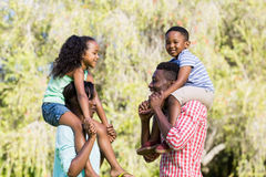 Happy family posing together Royalty Free Stock Image