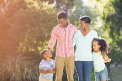 Happy family posing together Stock Photography