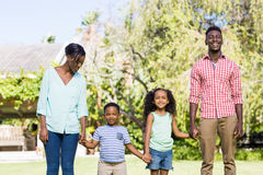 Happy family posing together Stock Image