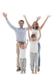 Happy family with raised hands Royalty Free Stock Photography