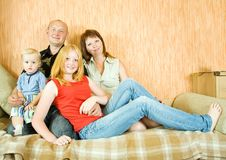 Happy family is relaxing Stock Photography